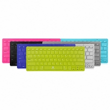 Ultra Slim Colorful Bluetooth Keyboard Wireless Keyboards Ergonomics 78-Key for All Windows Android Apple iOS Tablet Smartphone