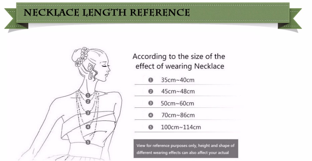 NECKLACE LENGTH REFERENCE