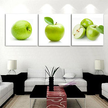 Unframed 3 Panels Green Apple Modern Kitchen Home Decoration HD Print Cupboard Decoration Wall Art Artwork Picture Canvas