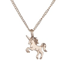 New Arrival Unicorn Horse Alloy Clavicle Chain Gold/Silver 1 pcs/lot For Women By Designer Jewelry Creative Making