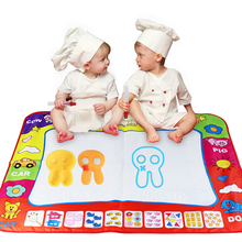 Top Quality Aquadoodle Mat& Magic Pen Water Drawing board Baby Kids Drawing Toy Size 80*60cm