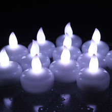 12pcs flameless led electronic floating tealight candle tea light battery-operated for wedding Xmas Holiday party
