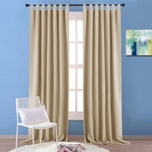 NICETOWN Modern Home Decorations Thermal Insulated Solid Blackout Tab Top blackout Curtain / Drape for bedroom &livingroom(China)