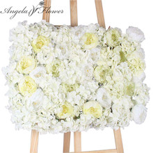 DIY artificial peony flower heads silk decorative flower DIY Road led wedding flower Bouquet hotel background wall decor 25pcs(China)