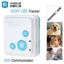 Portable RF-V18 Mini GSM Tracker LBS Tracker & SOS Communicator for Kids Children Elderly Personal GSM Tracking Device