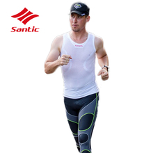 Buy Santic Cycling Vest Men Breathable Anti-sweat MTB Cycling Clothing Quick Dry White Bike Underwear Bicycle Clothes Ropa Ciclismo for $21.38 in AliExpress store