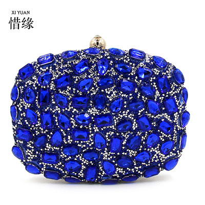 XIYUAN BRAND Top Quality Women pu Diamond Evening Bag Colored Hard Box Day Clutch wallets Ladies Shoulder Handbag Bags Bolsas<br><br>Aliexpress