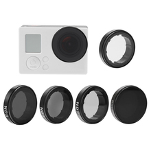 Andoer ND2 / ND4 / ND8 / ND16 / UV Filter Round Lens Filters Kit Camera Filter Protector Protective Glass for GoPro Hero 4 3+ 3