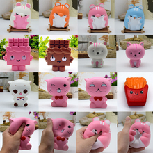 New Collection Jumbo PU Cute Kawaii Soft Slow Rising Squishies Scented Charms Kawaii Squishy Squeeze Decompression TOOLS(China)