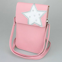 Matte PU Leather Mini Crossbody Cellphone Pouch Wallet Smartphone Bag for Huawei Mate 8/9/P9/P10 Honor V9/Magic/6X/8/G9 iPhone 7