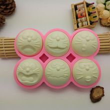 15.7 * 11.0 * 2.1cm Doraemon 6 expressions cell cake mold hand soap mold liquid Fondant mold baking tools bakeware Watch mold