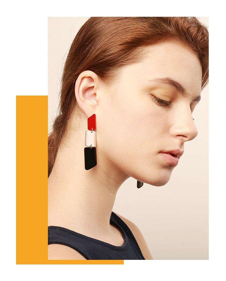 Fashion Lipstick Design Long Earrings for Women