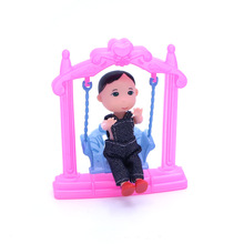 10-12cm Doll Swing Plastic Swing Doll Accessories Funny Doll Sports Tool Children Baby Christmas Birthday Gift(China)