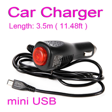 Mini USB Charger Adapter For Auto Car DVR Camera GPS Navigation Input 10V - 48V Ouput 5V 2A Cable Length 1.2m Universal WX0848(China)
