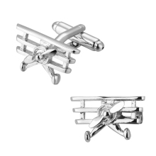 High quality copper Silver Cufflinks French fighter plane helicopter men's shirt cuff Cufflinks(China)