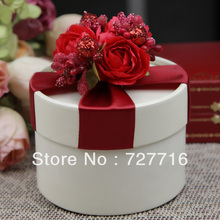 10PCS/LOT PAPER gift box RED Wedding Favor Boxes party candy box - Free shipping(China)