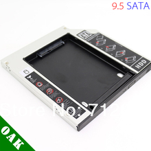 [Free DHL]Factory Price  Aluminum 9.5mm SATA to SATA Second HDD Caddy for Laptop High Quality - 100pcs
