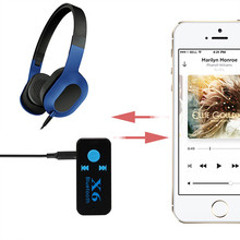 Wireless Bluetooth 3.5mm AUX Audio Stereo Music Home Car Receiver Adapter Mic mobile phone for iPhone iPad iPod HTC Samsung(China)