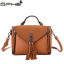 Vintage Tassel Tote Bags Women Handbags Famous Brands Michael Handbag 2017 Fashion Pu Shoulder Bag Bolsos Mujer De Marca Famosa(China)
