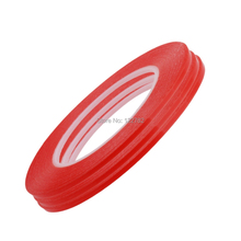 Red Double Sided 6mm*25m Adhesive Tape Sticker Strength Acrylic Gel Adhesive Home Button Sticker Tape for Mobile Phone Screen(China)