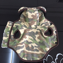 2016 Cute Camouflage cotton coat for dogs pet Hoodie with two ears on the hat Lamb Wool dog jacket fashion