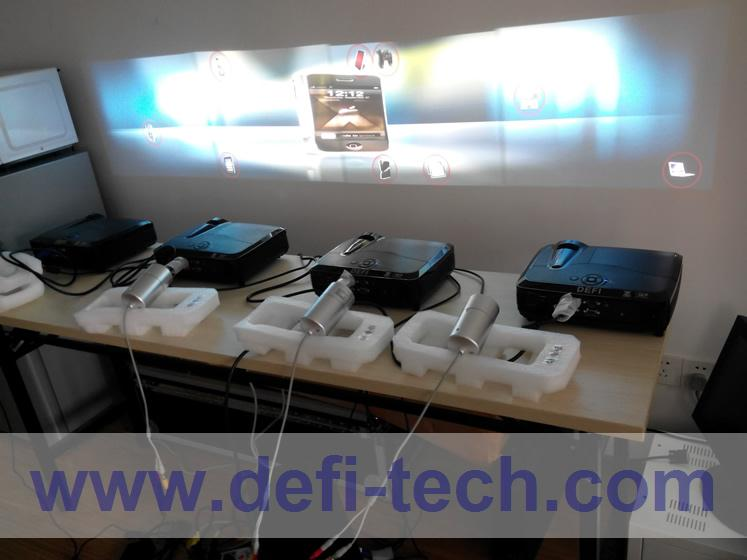 DEFI 4 screen Interactive floor system support 4 projectors including Edge Blending setting 16 effects(China (Mainland))