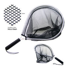 SAMS Landing Net Catch and Release Nets Scoop Brail Nylon Mesh Netting for Fly Trout Kayak and Boating Fishing Aluminum Hoop(China)