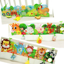 78*18cm HOT Baby Toys Cloth Book Infant Development Rustle Sound Children Educational Stroller Rattle Toy Newborn 0-12 Month Bed