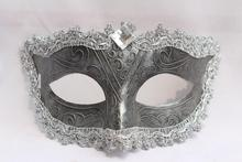 Handmade Italian Venetian Masks Masculine Princess Mask Recall 2 color painted male and female models