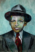 YOUNG FRANK SINATRA  oil painting-2016 TOP ART oil painting --Originally art work -Free shipping cost 36 inches