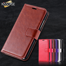 KISSCASE N630 Case Stand Wallet PU Leather Phone Cases For Nokia Lumia 630 635 N630 N63 Crazy Horse Card Slots Photo Frame Cover