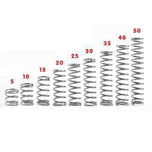 304 stainless steel spring small spring compression spring wire diameter 0.3 * 3* 5/10/15/20/25/30/35/40/45/50mm