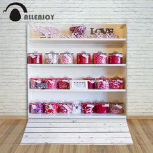 Christmas Photography background candy honey jar shelf chindhood princess kids props customize  Allenjoy backdrops