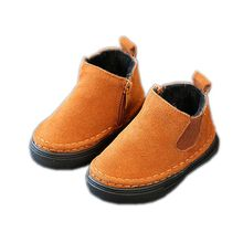 Children's Shoes Boys Boots New Winter Solid Fashion Warm Snow Boots Girls Shoes Kids Soft Outdoor Girls Boots Size 21-30(China)