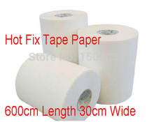 Hot fix paper & tape 6M length/Lot ,30CM wide adhesive iron on heat transfer film super quality for HotFix rhinestones DIY tools