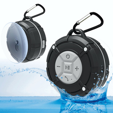 Newest Bluetooth Speaker Portable Wireless Waterproof Loudspeake Bicycle Speakers with Suction Cup For iPhone 6s Mobile Phone