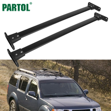 Partol Car Roof Rack Cross Bars Crossbars Fit for Nissan Pathfinder 2005-2012 Years With 132LBS Capacity And Steamline Mute Bars(China)
