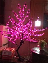Free ship Christmas New year  Pink LED Cherry Blossom Tree Light 480pcs LED Bulbs 1.5m Height 110/220VAC Rainproof Outdoor Usage