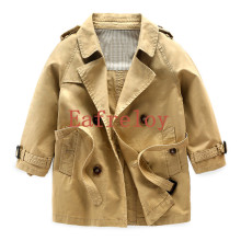 The Boy Dust Coat Boys Jacket for Boy Coats New Casual Autumn&Winter Children Clothes Outwear Baby Kids Overcoat Khaki Color(China)