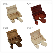 Wooden personality creative gift customized wood with box USB flash drive u disk USB2.0 flash drive 4G 8GB 16GB 32GB 64GB