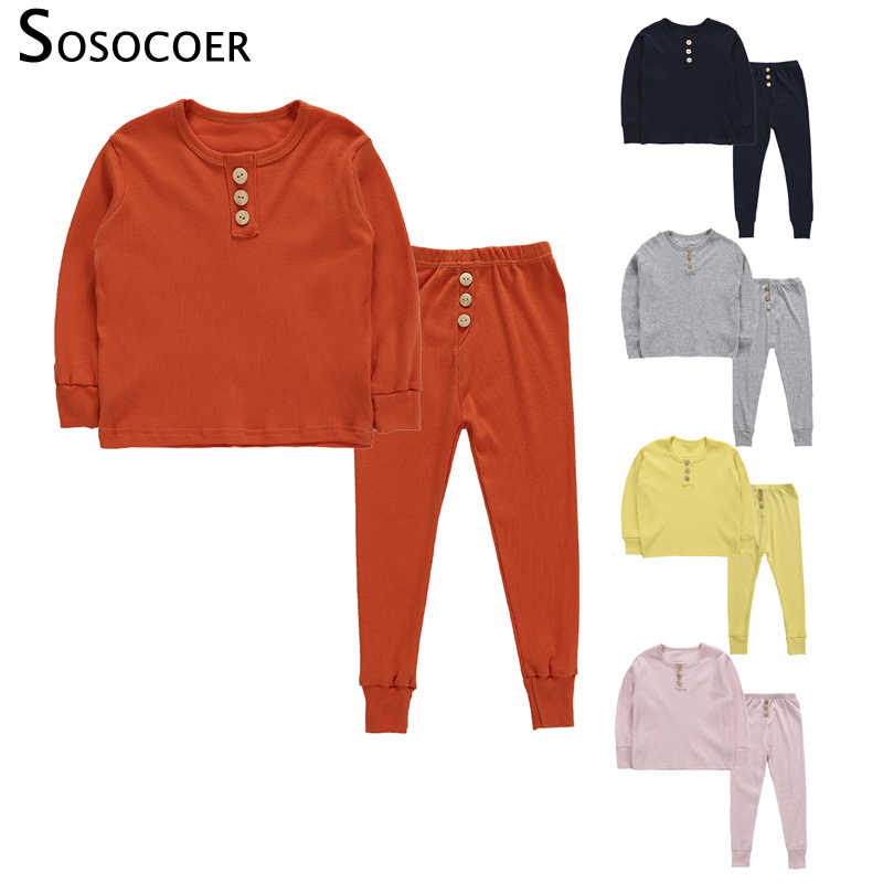 89a1aa412 SOSOCOER Toddler Girl Clothes Set Long Sleeve Solid Color Suit for Girls T  Shirt Pants 2pcs