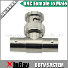 Free Shipping 10pcs BNC Male TO 2 BNC Female,Camera DVR Connector Adapter,CCTV Accessories ,Wholesale XR-AC28