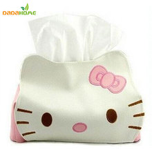 Dropship Hello Kitty Cute Home & Car Tissue Case Boxes Container Towel Napkin Papers Bag Holder BOX Case Pouch