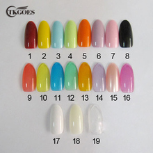 TKGOES 500 PCS Oval Natural Colors False Acrylic Nail Tips UV Gel Half Nail Tips French Nail Art Tips