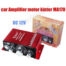 Mini 2 Channel output power amplifier Hi-Fi Stereo Amplifier 12V CD DVD MP3 input car Audio Power amplifier 20WX2 RMS