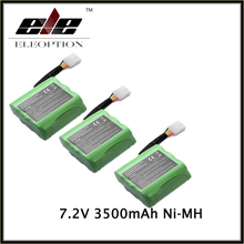 Eleoption3 PCS  3.5Ah 7.2V Ni-MH Replacement Battery For Neato XV-11 XV-21 XV-14 XV-13 945-0005 AUTOMATIC VACUUM CLEANER