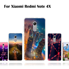 "Buy Soft Silicon Case Xiaomi Redmi Note 4X 5.5"" Back Cover Xiaomi Redmi Note 4X Protective Case Painted Pattern Cover Shells for $1.49 in AliExpress store"