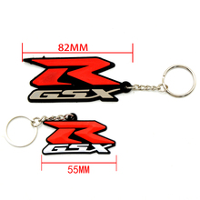 Motorcycle Accessories 3D Soft Rubber Keychain Key Ring Key chain keyring Stickers For Suzuki GSXR600 GSXR750 GSXR1000 GSXR 1300(China)