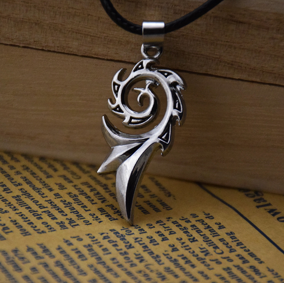 New Cool Men/'s Boy Flame Stainless Steel Pendant Leather Necklace Jewellery Gift