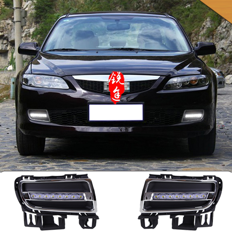 06-09 for Mazda 6 line lamp LED daytime running lights M6 Fog lamps modified<br><br>Aliexpress